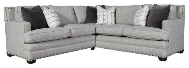 Riley 2-Piece Corner Sectional Sofa with Nailheads 96 ...