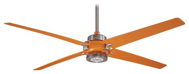 """Minka Aire Spectre Orange 60"""" Ceiling Fan."""
