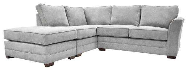 Albany Corner Sofa, Silver, Right Hand