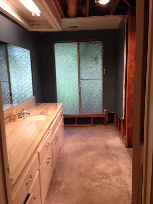 Hallway Bathroom Design Shared Use
