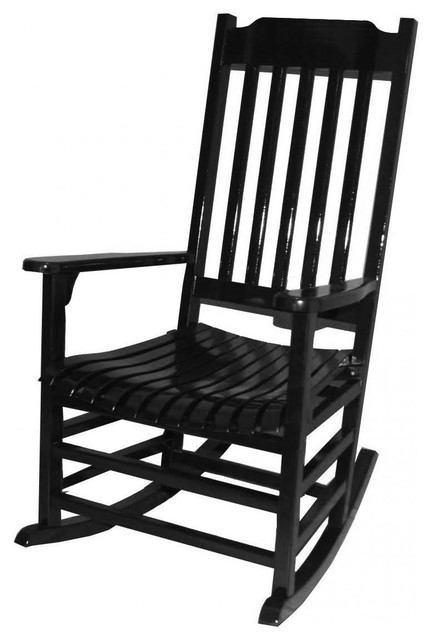Americana Rocker, Painted Black Traditional Outdoor Rocking Chairs