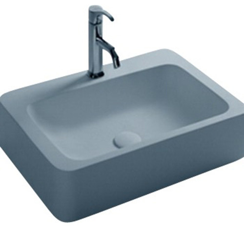 Attrayant Mood Rectangular Solid Surface Vessel Sink Bowl Above Counter Sink Lavatory
