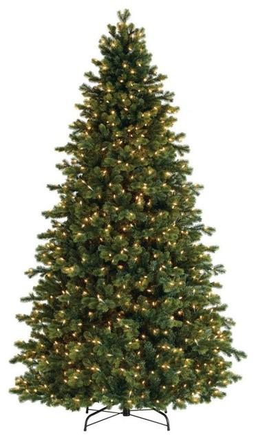 7.5' Pre-Lit Savannah Spruce Artificial Christmas Tree, Clear Lights