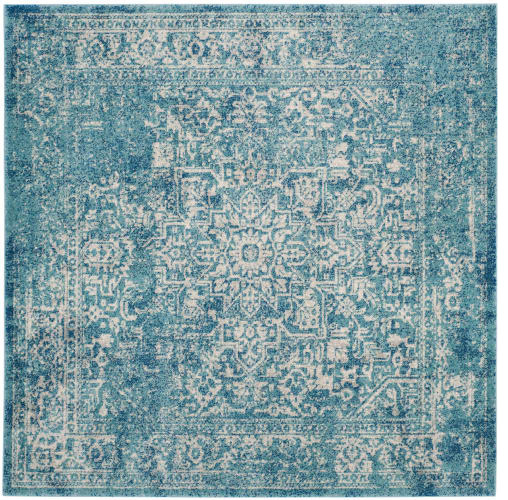 Safavieh Evk256-9sq Evoke 9&x27; Square Synthetic Power Loomed Traditional Area Rug.