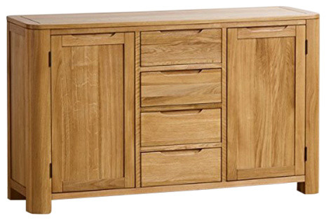 Romsey Natural Solid Oak Large Sideboard Storage Unit Console