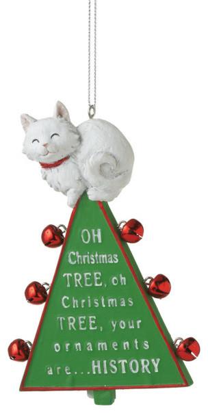 Oh Christmas Tree Ornament - Xmas Cat & Bells Funny Holiday Gift Decoration - Oh Christmas Tree Ornament - Xmas Cat & Bells Funny Holiday Gift