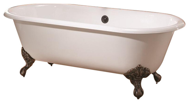 Regal Cast Iron Bathtub, White Interior, White Exterior by Cheviot Products
