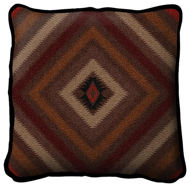 Modern Southwest Pillow : Shop Houzz Fine Art Tapestries Southwest Sampler Russet Pillow - Decorative Pillows
