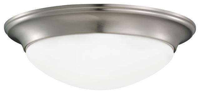 Nash 1-Light Flush Mounts, Brushed Nickel.