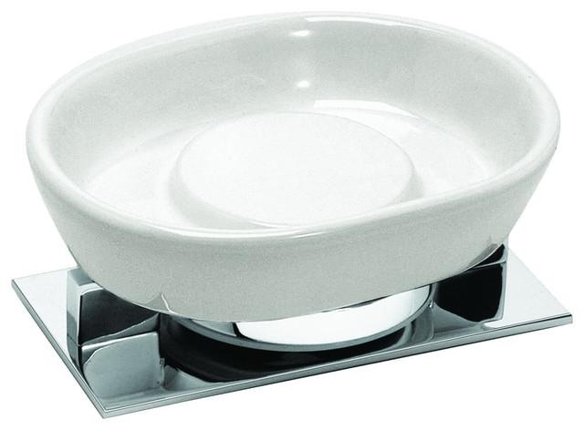 Sensis Freestanding Ceramic Soap Dish Chrome