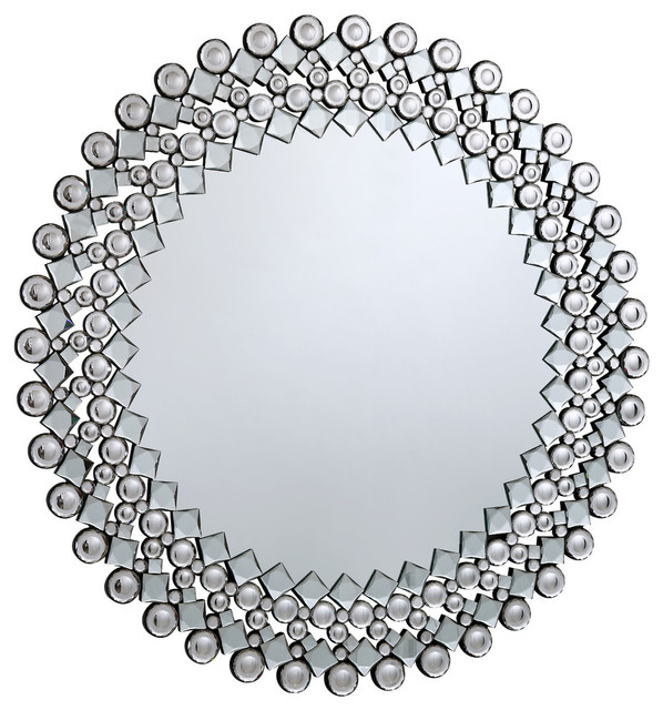 "Crystal Wall Mirror modern crystal mirror, clear, 39.5"" - contemporary - wall mirrors"