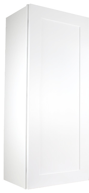 """Cabinet Mania White Shaker Kitchen Wall Cabinet 9""""x42""""x12""""."""