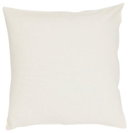 "White Linen Decor Pillow Case Lara, 20""x20""."