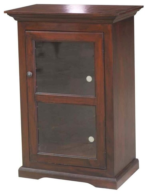 "40"" Tall Audio Tower, Concord Cherry - Media Cabinets - by ShopLadder"