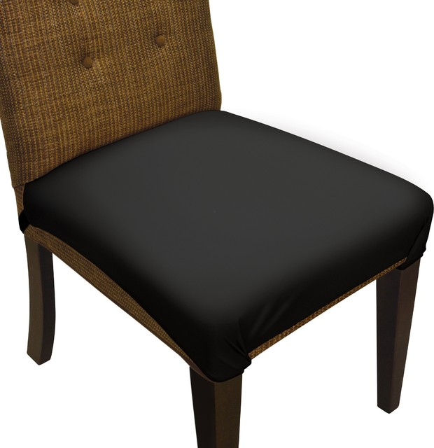 SmartSeat Dining Chair Seat Cover and Protector, Metro Black