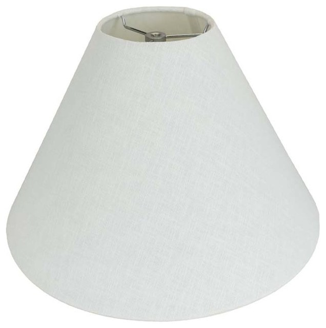White Texture Linen Coolie White Lamp Shades By