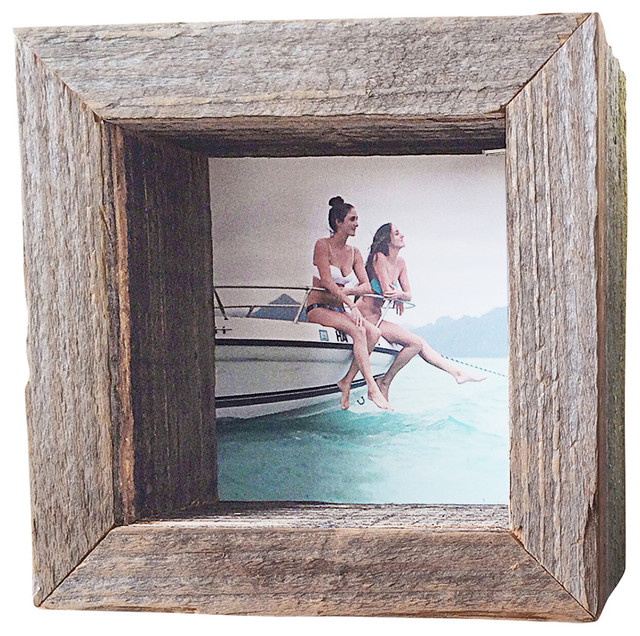 reclaimed wood shadowbox 4x4 rustic picture frames