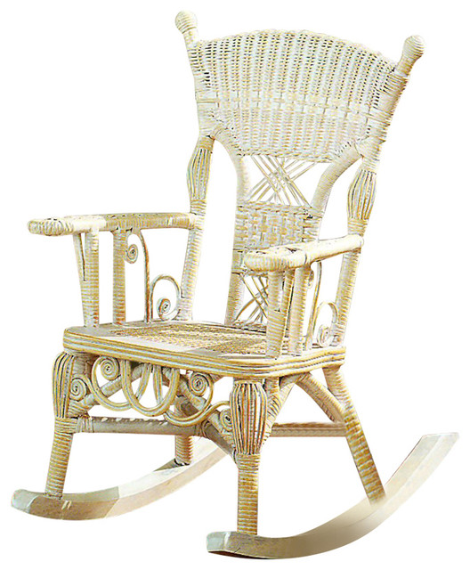 Child's Millie Rocker, Whitewash by Spice Islands Wicker