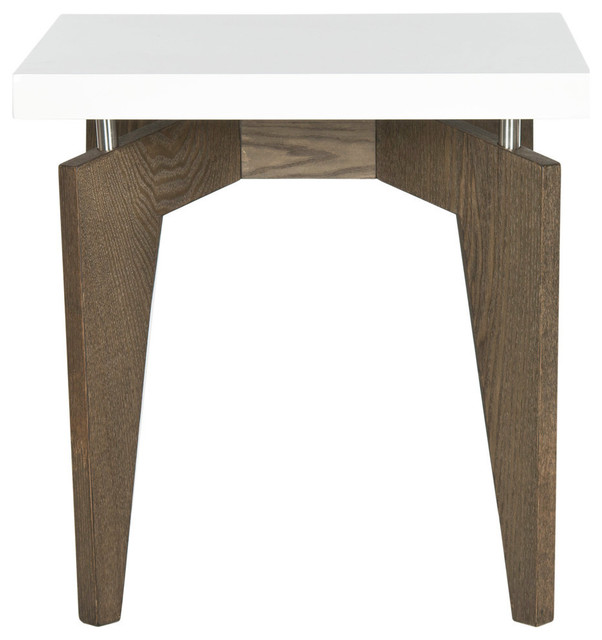 Safavieh Josef Lacquer End Table Midcentury Side
