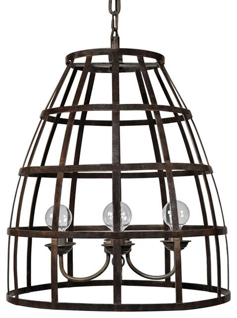 Wayne Loft Metal Birdcage Pendant Light Lighting By Kathy Kuo Home