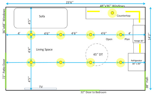 Need Help On Open Plan Layout 24x14  Dt Size  Lighting