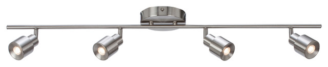 Chappelle LED Fixed Rail, Satin Nickel