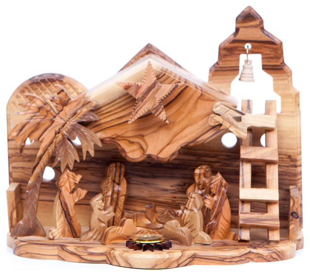 Olive Wood Nativity Set.