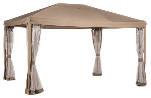 Abba Patio 10&x27;x13 Fully Enclosed Gazebo Patio Canopy With Mosquito Netting.