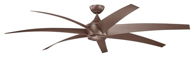 "Kichler Lighting Lehr Contemporary Ceiling Fan With 7 Blades, 80""."