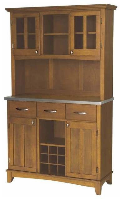 Shop Houzz | Home Styles Furniture Home Styles Furniture Large Cottage Oak Buffet with 2-Door ...