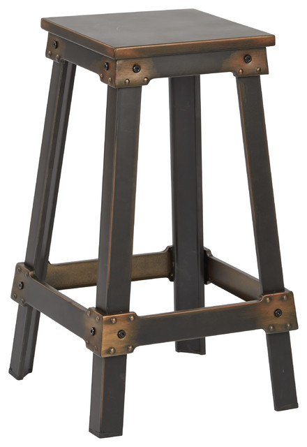 Office Star New Castle 26 Quot Metal Bar Stool In Antique