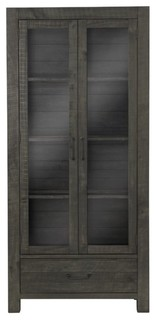 Magnussen Abington Curio Cabinet, Weathered Charcoal