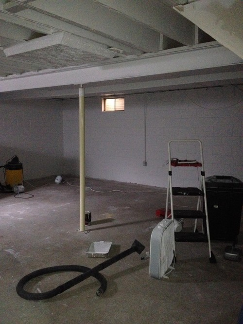 Unfinished basement ideas for Unfinished basement floor ideas