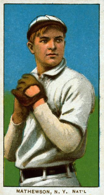 New York Giants Christy Mathewson Baseball Card Print 9x12