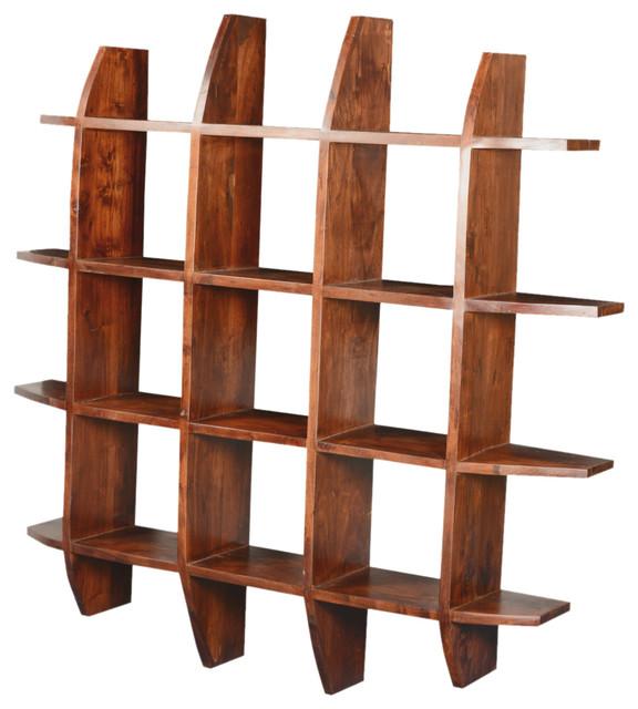 Modern Rustic Acacia Wood 59 Quot Sq Shadow Box Display Wall Frame Rustic Display And Wall