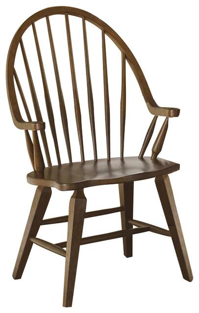 Liberty Hearthstone Windsor Back Arm Chair In Rustic Oak, Set Of 2  382 C1000A