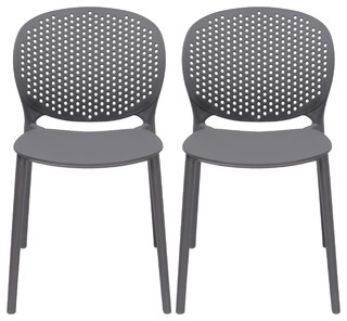Stackable Plastic Armless Side Dining Chairs Contemporary ...