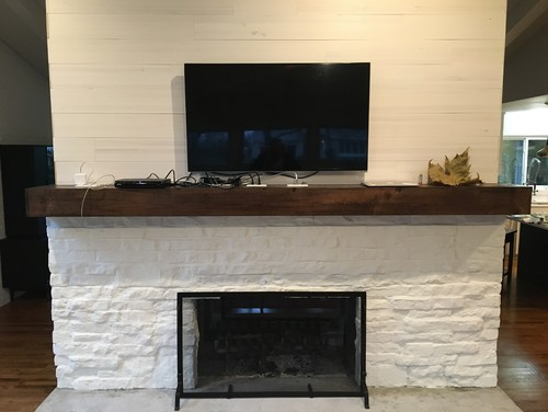 Hiding Cords From Outlets On A Fireplace Mantle