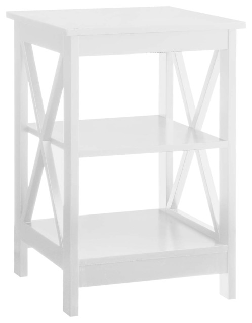 Oxford End Table, White.