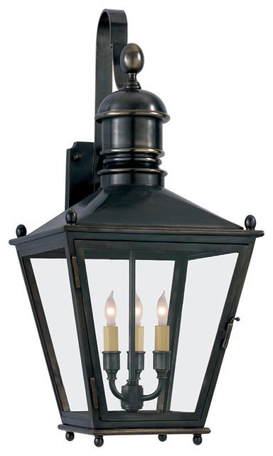 E. F. Chapman Sussex Medium Bracket Lantern, Bronze