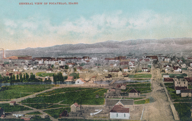 """Pocatello, Idaho - Aerial View of the City"" Print ..."