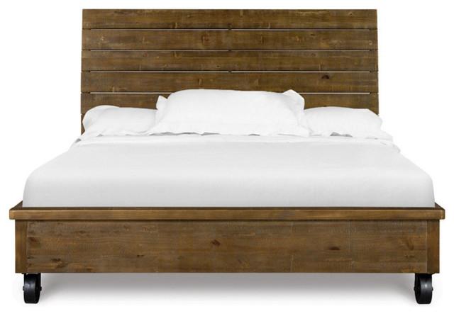 Magnussen River Ridge Queen Island Bed, Queen Bed On Casters