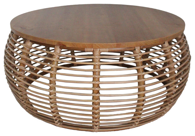 Iris Rattan Coffee Table