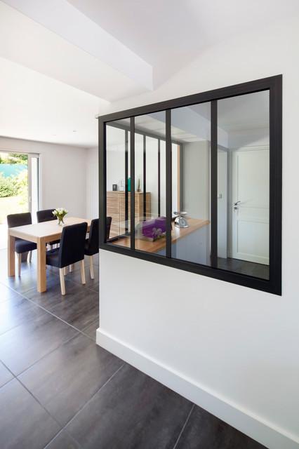 R novation avec ouverture du rdc cuisine et acc s jardin for Ouverture toit maison