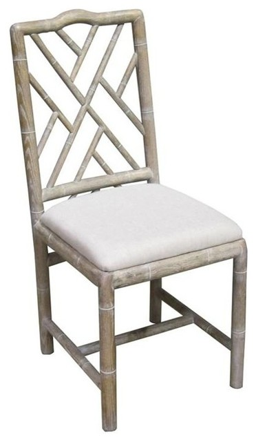 Brighton Bamboo Side Chair Whitewash Set of 2  sc 1 st  Houzz & Brighton Bamboo Side Chair Whitewash Set of 2 - Farmhouse - Dining ...
