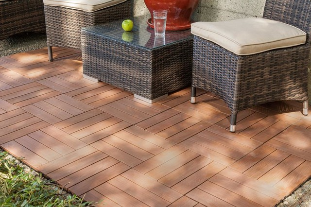 Kontiki Interlocking Deck Tiles Composite Quickdeck Series Ipe 12 X12 X1