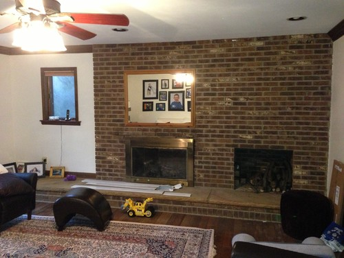 Help. Fireplace & surround... Wall - what to do?