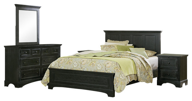 Farmhouse Basics Queen Bedroom Set With Nightstands And Dresser