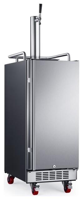 Edgestar Kc1500 15 1 Tap Kegerator, Stainless Steel.