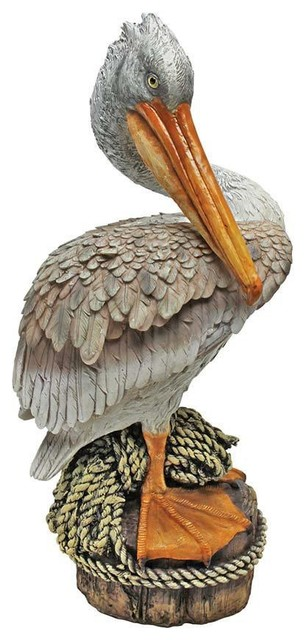 Design Toscano Coastal Pelican Garden Statue View In
